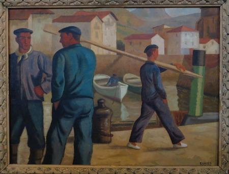 """Ramiro Arrue y Valle : """"Pêcheurs basques"""" (vers 1936)"""
